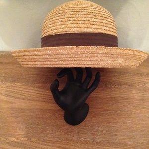 Accessories - Ladies Straw Bowler Hat